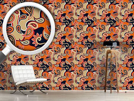 Design Wallpaper Rock Orange
