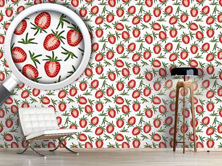 Design Wallpaper Sweet Strawberries