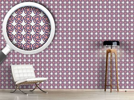 Design Wallpaper Geometric Blossoms