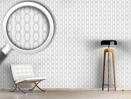 Design Wallpaper Ovals in strips