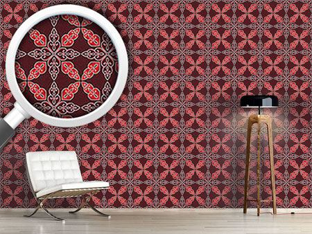 Design Wallpaper Moroccan Red