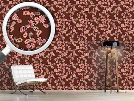 Papel tapiz de diseño Paisley In Brown