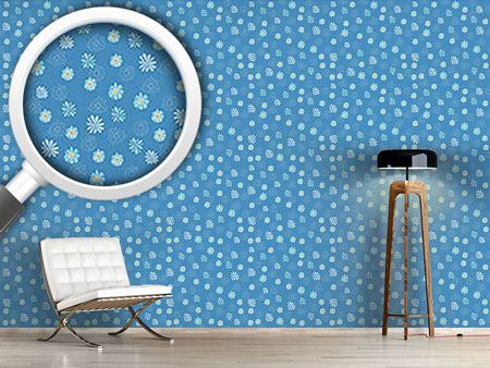 Design Wallpaper Variations of Daisies