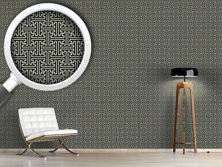 Design Wallpaper Asian Lattice Weave