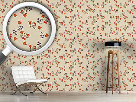 Design Wallpaper Mille Fleurs On Beige