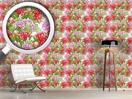 Design Wallpaper Bouquet Of Peonies