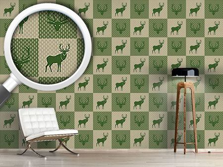 Papier peint design The Forest King Green