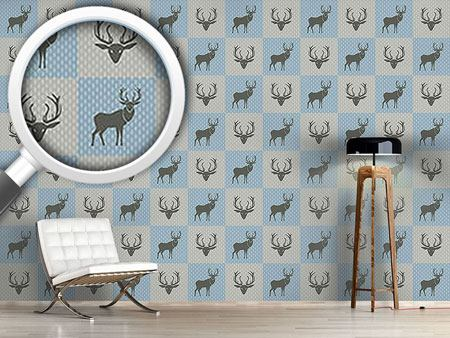 Design Wallpaper The Forest King Blue