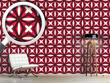 Design Wallpaper Retro Stitching