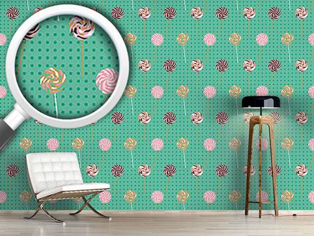 Design Wallpaper Lollipop Polkadot