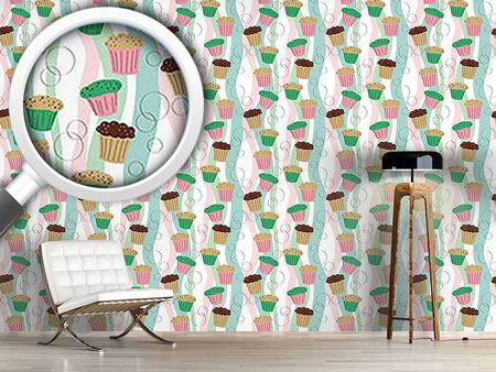 Design Wallpaper Colorful Muffins