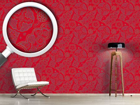 Design Wallpaper Henna Rosso