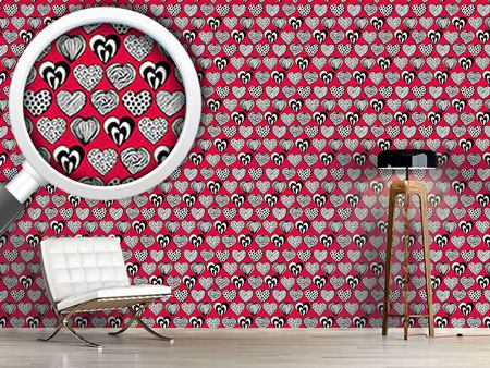 Design Wallpaper Funny Hearts