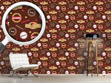 Papier peint design Yummy Brown