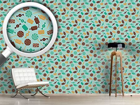 Design Wallpaper Candy Mint