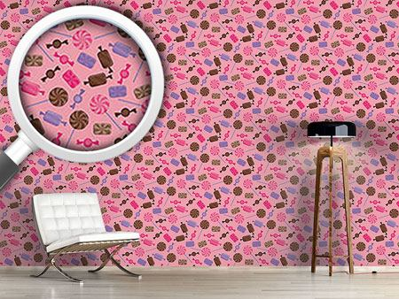 Design Wallpaper Candy Strawberry