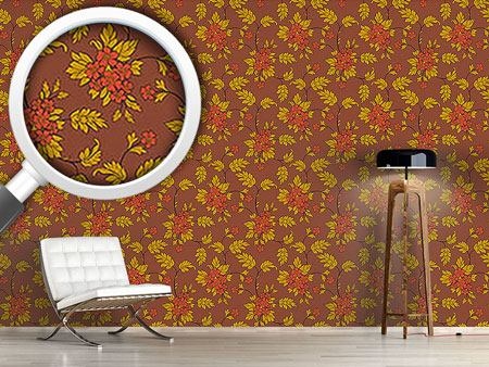 Design Wallpaper Bouquet Mocca