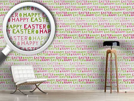 Papel tapiz de diseño Happy Easter Eggs