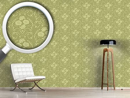 Design Wallpaper Rose Green