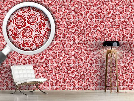 Design Wallpaper Rose Blossoms Rosey