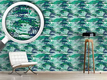 Design Wallpaper Paradise Island Green