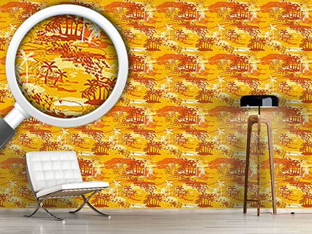Design Wallpaper Paradise Island Yellow