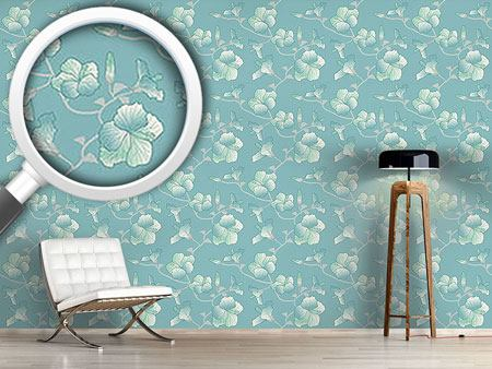 Design Wallpaper Pastel Hibiscus