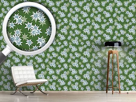 Design Wallpaper Edelweiss Green