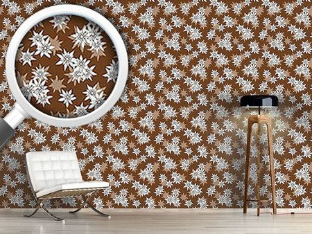 Design Wallpaper Edelweiss Brown