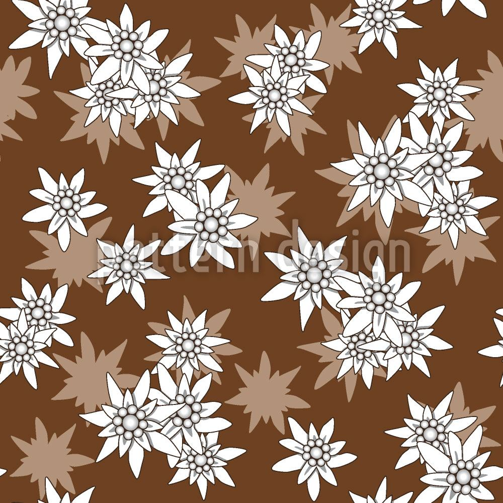 Papier peint design Edelweiss Brown