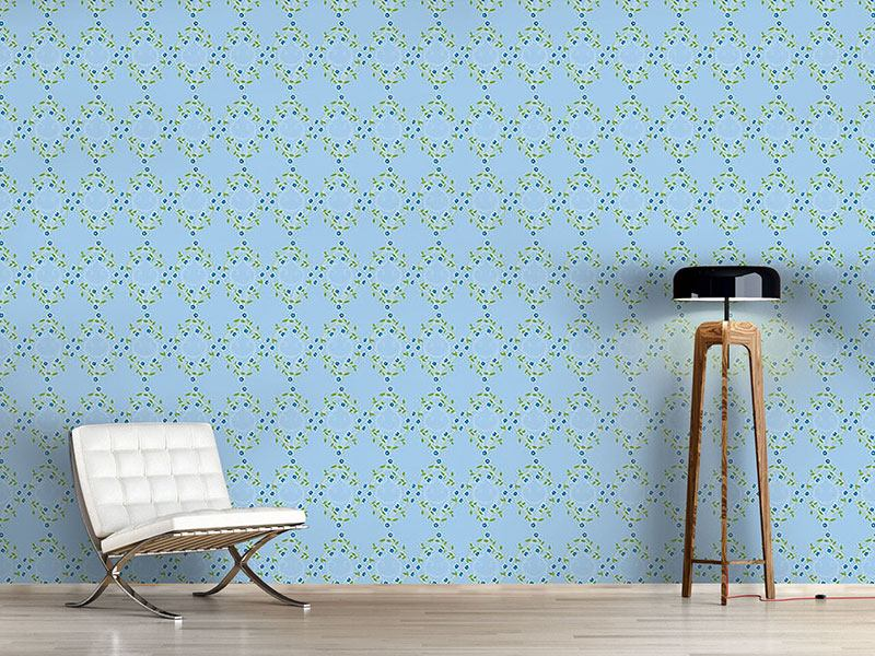 Papel tapiz de diseño Forget Me Not Blue