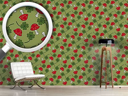 Design Wallpaper Lucky Charms In Green
