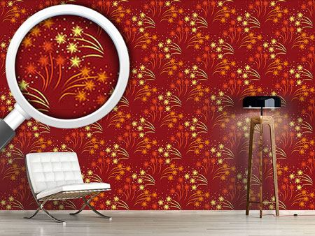 Design Wallpaper Red Fireworks