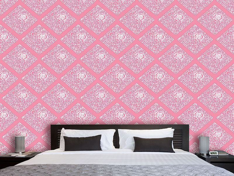 Design Wallpaper Sleeping Beauties Rose