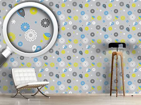 Design Wallpaper Flowerpower Stilisimo