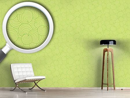 Papier peint design Circle Leaves