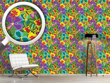 Design Wallpaper Colorful Orchid