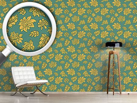 Papier peint design Baroque Bloom Green