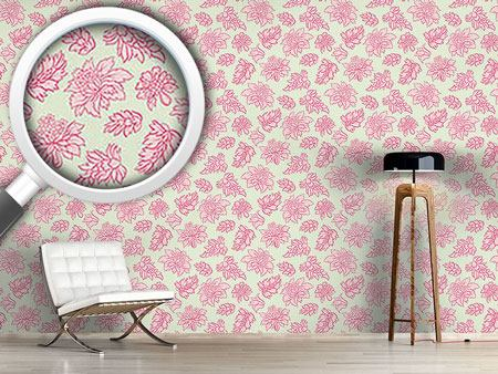 Papier peint design Baroque Bloom Pastel