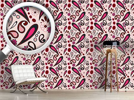 Design Wallpaper Beebob Paisley Pink