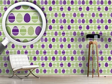 Design Wallpaper Green Easteregg Stripes