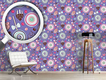Papier peint design Cookidoo Purple