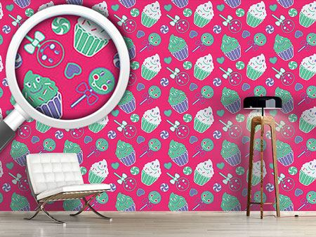 Design Wallpaper Happy Desserts Pink