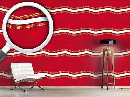 Design Wallpaper Red Kangaroo