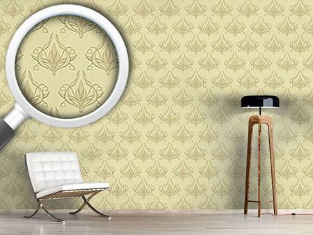 Design Wallpaper Lily Beige
