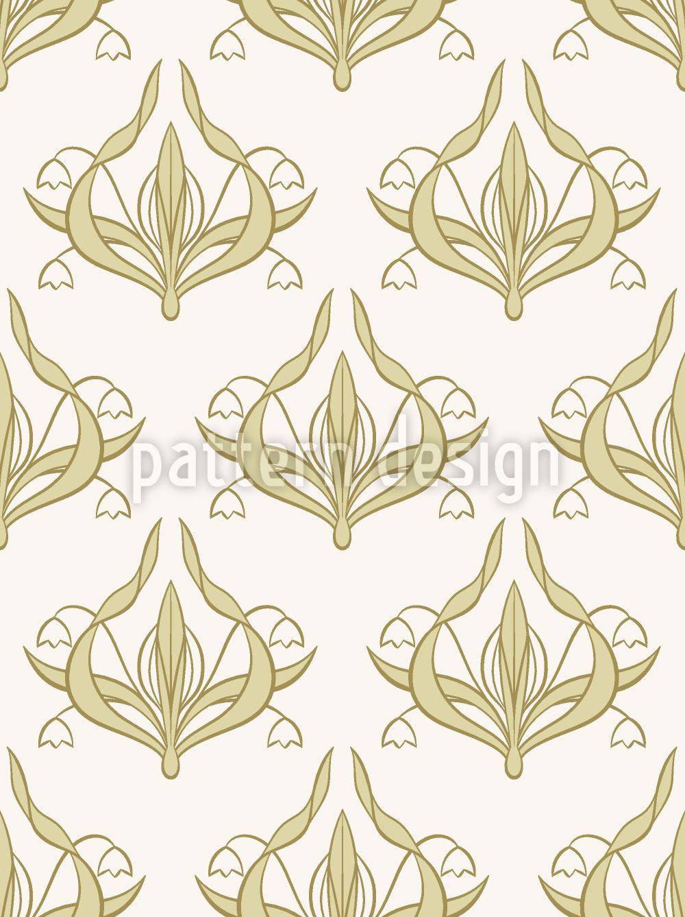 Papier peint design Lilly White