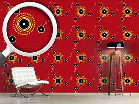 Design Wallpaper Aborigine Gathering