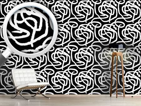 Papel tapiz de diseño Black And White Painting