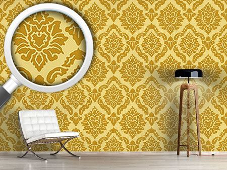 Papier peint design Pop Baroque Gold