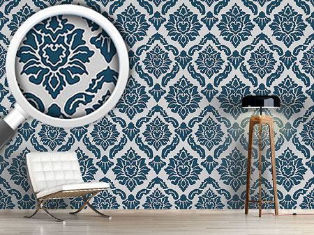 Papier peint design Pop Baroque Blue
